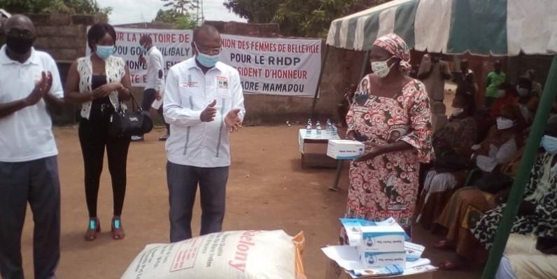 Le directeur général de l'Infs, Mamadou Traoré, conseiller politique du coordonnateur régional du Rhdp Gbêkê 1, a invité les militantes à se faire enrôler. (Dr)