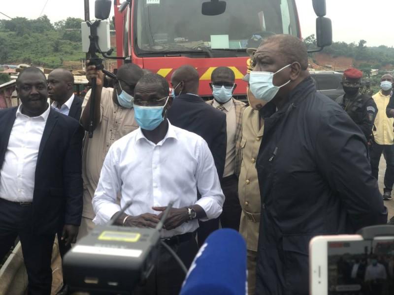 Le ministre d'État, ministre de la Défense, Hamed Bakayoko, s'est rendu à Anyama suite au drame survenu dans la localité. (Dr)