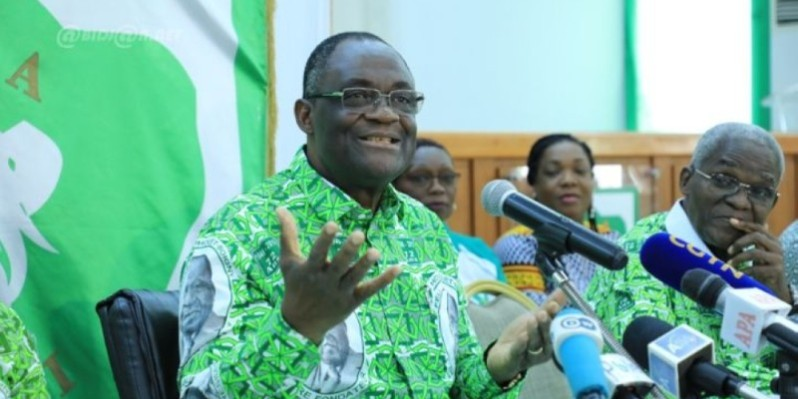 Le secrétaire exécutif du Pdci-Rda, Maurice Kakou Guikahué. (Dr)