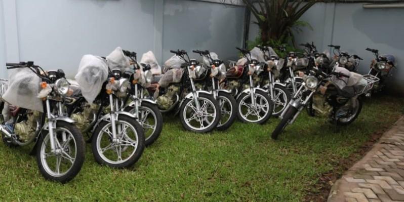 25 motos pour assurer la mobilité des agents sur le terrain. (DR)