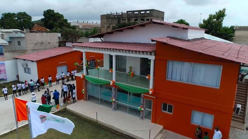 Le siège du Rhdp de Bouaké inauguré. (DR)