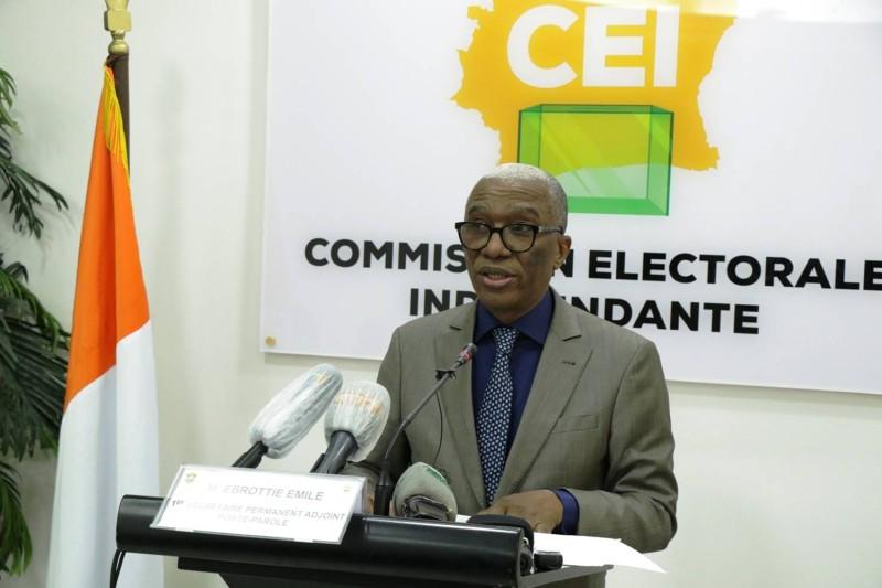 Emile Ebrottié, porte-parole de la CEI