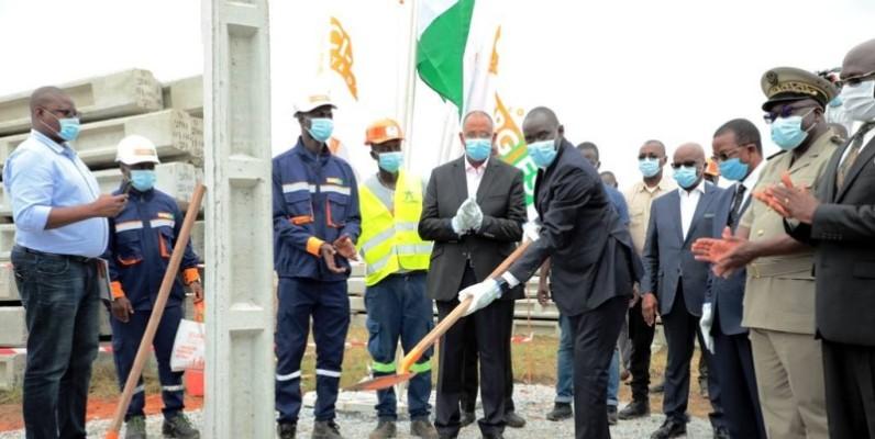 Le lancement des travaux d'extension du réseau électrique d'Adzopé. (DR)