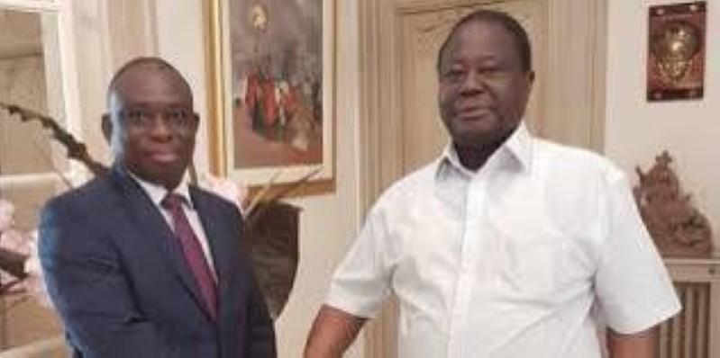 Kouadio Konan Bertin (Kkb) et Henri Konan Bédié sont pour le moment les deux candidats déclarés à la convention du Pdci-Rda. (DR)
