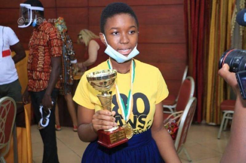 Kouamé Ellamien Eny Melvyne la 1ere Meilleure Oratrice (DR)