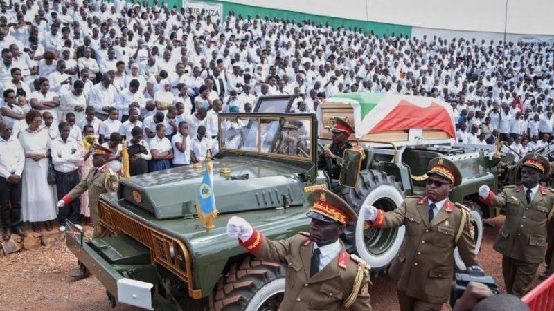 Les obsèques de Pierre Nkurunziza, ancien président du Burundi. (DR)