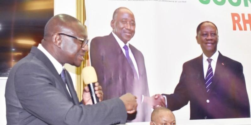 François Amichia, coordonnateur régional Rhdp Treichville-Marcory, a mobilisé les enseignants houphouétistes à mener des actions de terrain. (DR)