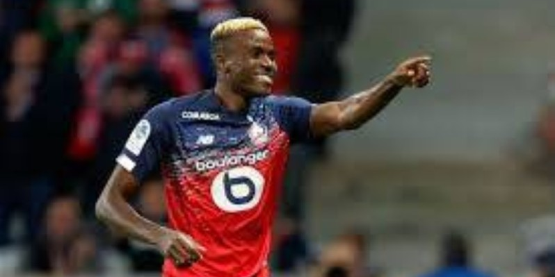 L'attaquant de Lille, le Nigérian Victor Osimhen remporte le Prix Marc-Vivien Foe. (DR)