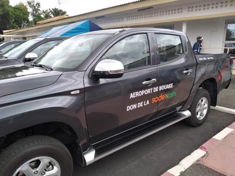 Une vue des véhicules offerts par la Sodexam. (DR)