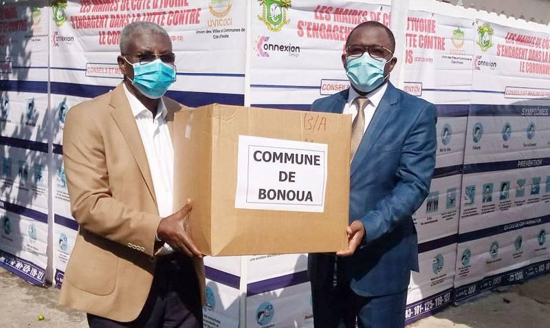 Le président de l'Uvicoci et son organisation sont à fond dans la lutte contre la pandémie. (DR)
