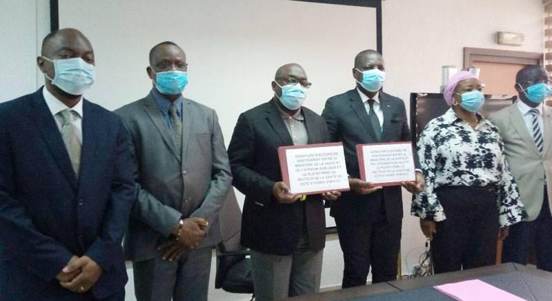 Signature d'un accord de partenariat entre la plateforme du Secteur privé de la santé et le ministère de la Santé et de l'Hygiène publique. (DR)