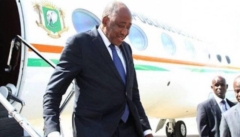 Amadou Gon Coulibaly, Premier ministre, de retour de France. (DR)
