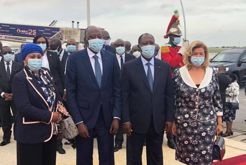 Le premier ministre Amadou Gon Coulibaly à son arrivée à Abidjan