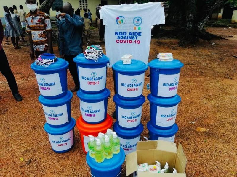 L'Ong Aide a fait des dons à des établissements de Guehiebly. (DR)