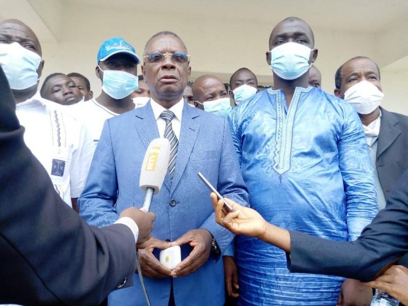 Coordinateur régional associé du Rhdp, Lazare Aka Sayé, mobilise pour des élections apaisées. (DR)