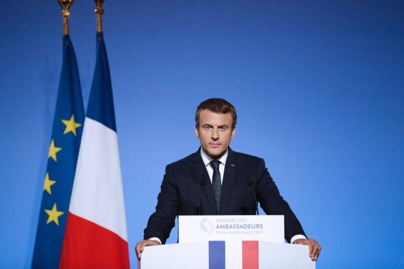 Le Président de ka République française, Emmanuel Macron