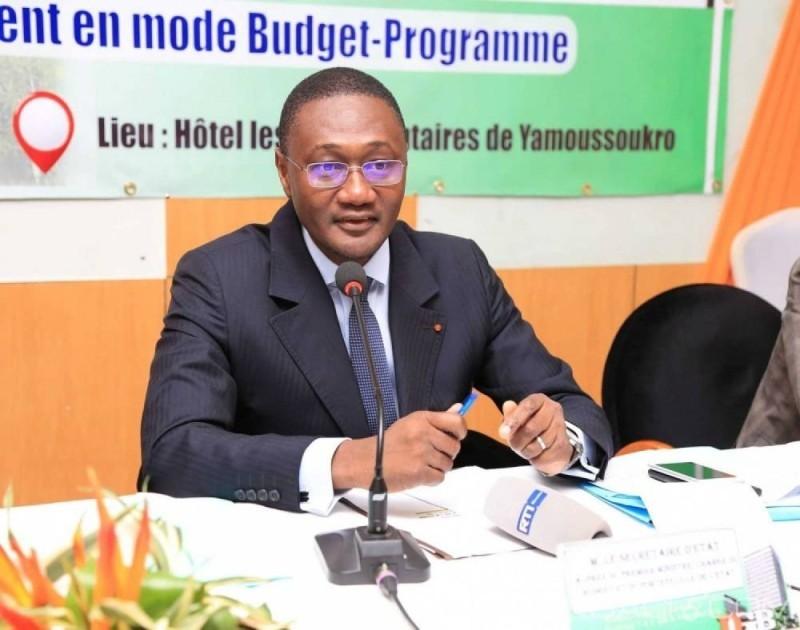 Moussa Sanogo, ministre auprès du Premier ministre chargé du Budget et du portefeuille de l'Etat. (DR)