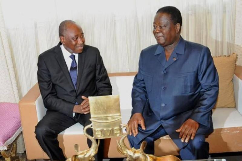 Amadou Gon Coulibaly et Henri Konan Bédié. (DR)