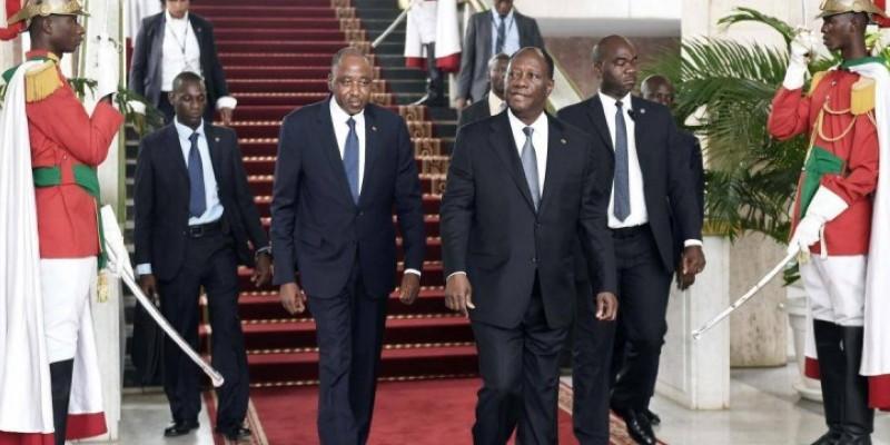 Le Président Ouattara rend hommage au Premier ministre, Amadou Gon Coulibaly. (Dr)