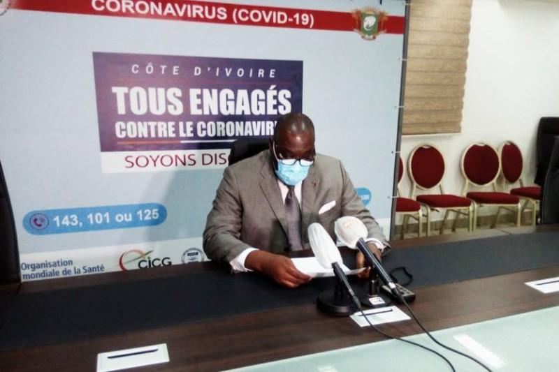 Le directeur général de la Santé, Samba Mamadou, a donné les nouveaux chiffres du samedi 11 juillet. (DR)