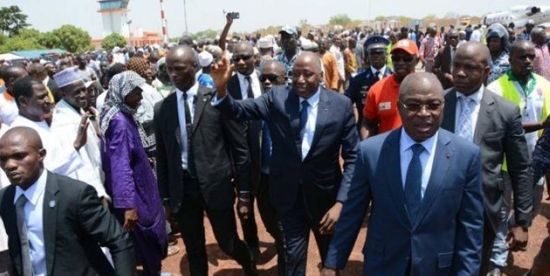 Amadou Gon Coulibaly en visite à Korhogo, sa ville natale, après sa nomination au poste de Premier ministre.(DR)