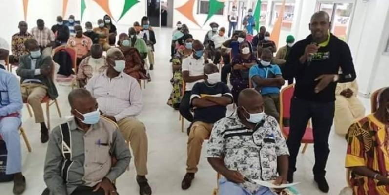 Les militants et militantes du Rhdp de Bouaké veulent prendre une part active dans les obsèques du Premier ministre Amadou Gon Coulibaly. (DR)