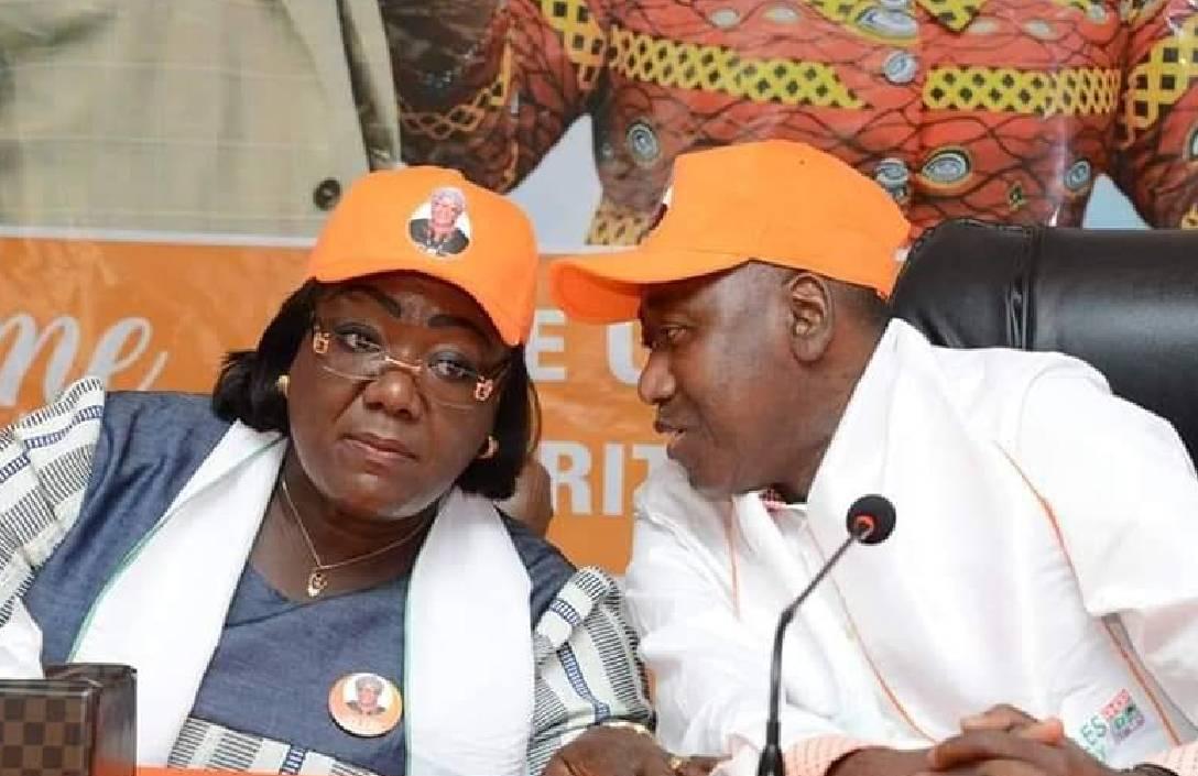 Anne Désirée Ouloto et l'ex-premier ministre Amadou Gon Coulibaly