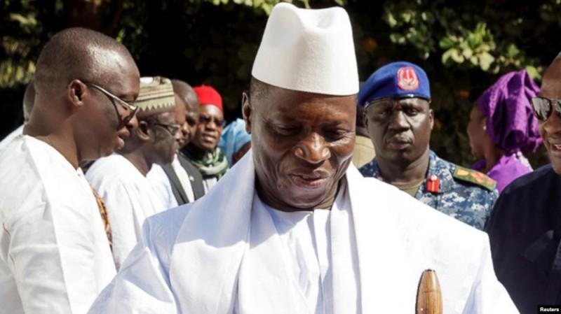 L'ancien président gambien Yaya Jammeh à Banjul en janvier 2017. (DR)