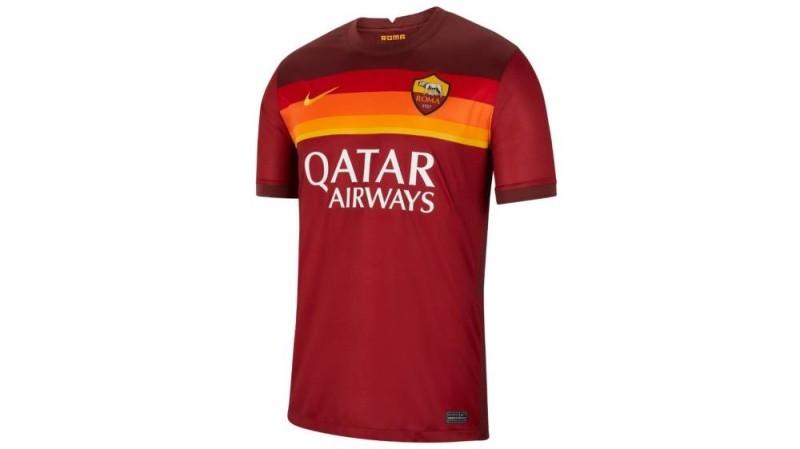 La fcae avant du maillot domicile de l'as Roma de la saison 2020-2021. (DR)