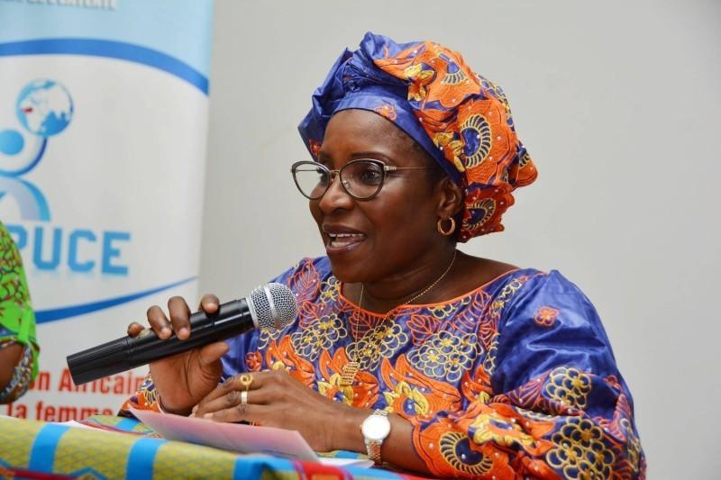 Mme Assué Béatrice présidente du Refpuce (DR)