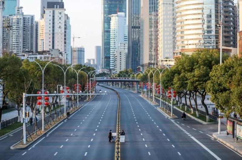 Une vue de Wuhan en quarantaine dans les débuts du coronavirus. (DR)