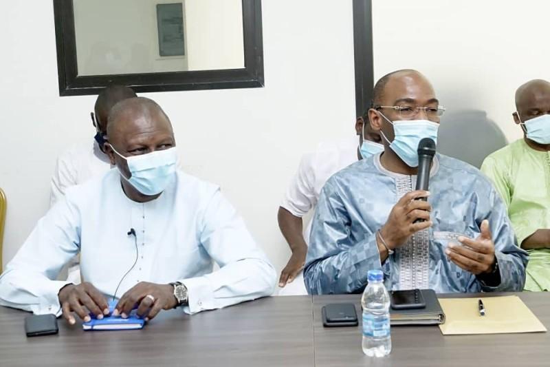 Le candidat Sory Diabaté et son directeur de campagne Léonce Yacé