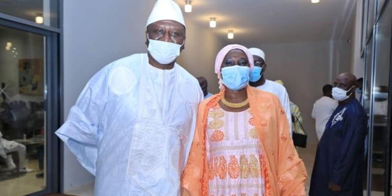 Le nouveau Premier ministre Hamed Bakayoko en compagnie de la ministre Kandia Camara. (DR)