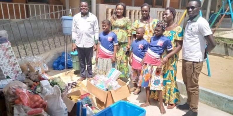 La Maison Saint-Joseph de Bonoua a reçu des vivres et des non-vivres. (DR)