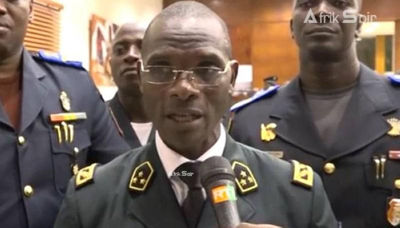 L'intervention du général de corps d'armée a été lue par son conseiller sécurité, Dr Kama Tapé Bérenger. (DR)