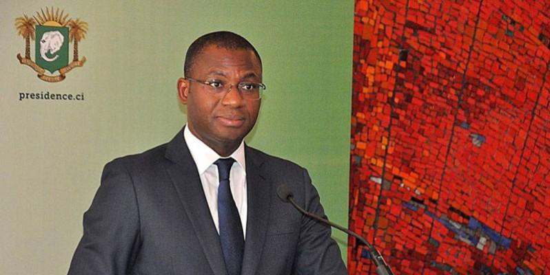 Sidi Tiémoko Touré, ministre de la Communication et des Médias, porte-parole du gouvernement. (DR)