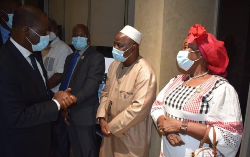 L'arrivée, hier mercredi, du président Amadou Soumahoro, à Abidjan