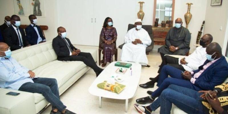 Les artistes se sont mobilisés pour cette rencontre avec le Premier ministre Hamed Bakayoko. (Dr)