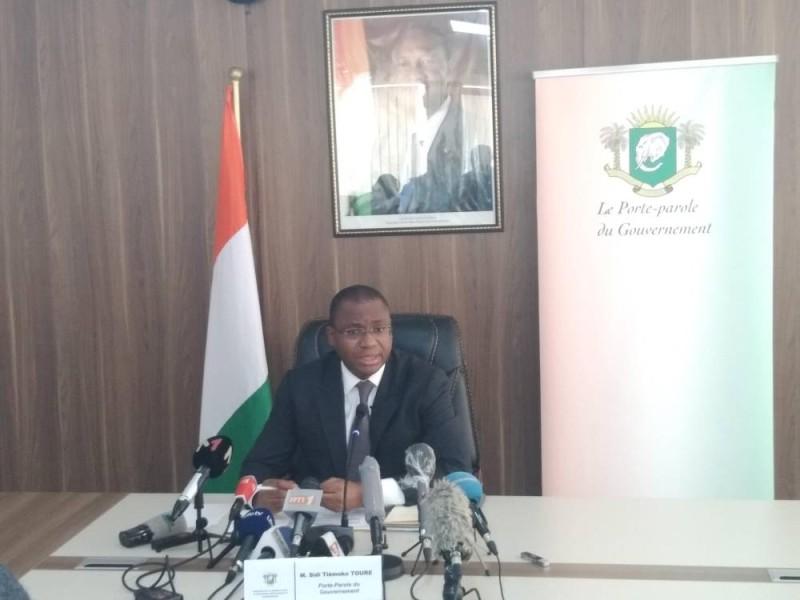 Le ministre Sidi Touré a rassuré la presse nationale et internationale sur la légalité de la candidature du Président Alassane Ouattara. (DR)