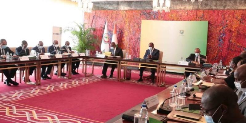 Avant le Conseil des ministres, le Chef de l'Etat a présidé, une réunion du Conseil national de sécurité. (Dr)
