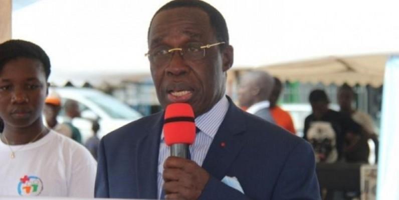 Le ministre de la Santé et de l'Hygiène publique, Dr Aka Aouélé. (DR)