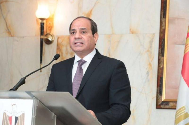 Le président de la République Arabe d'Egypte, S.E.M. Abdel Fattah Al Sisi
