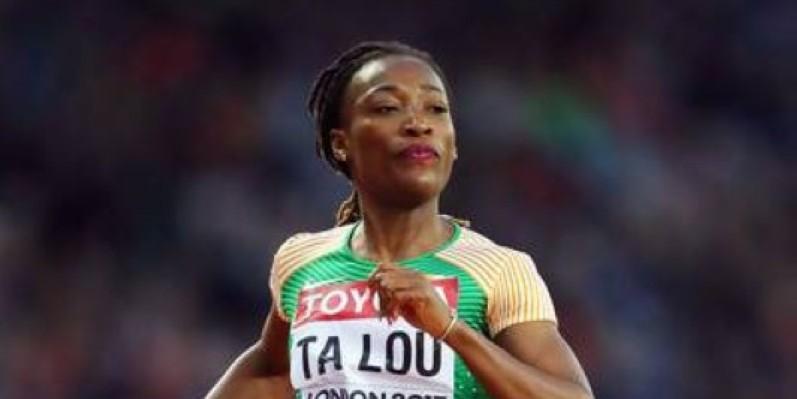 La sprinteuse ivoirienne Marie Josée Ta Lou décroche la médaille de bronze. (DR)