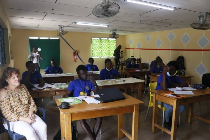 Les élèves sélectionnés en formation (DR)
