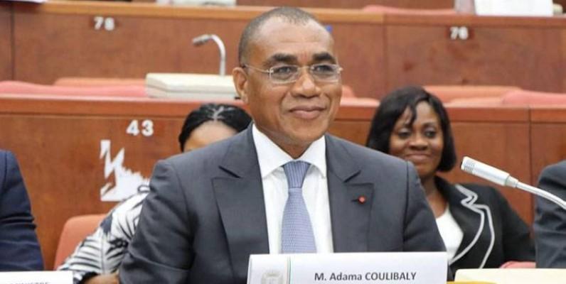Adama Coulibaly, ministre de l'Économie et des Finances, était face aux sénateurs. (DR)