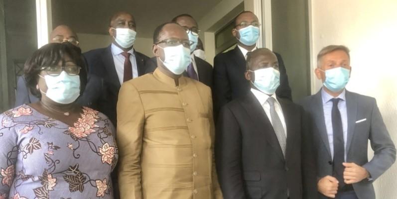 Une délégation de l'Internationale libérale a échangé avec la direction du Rhdp. (DR)