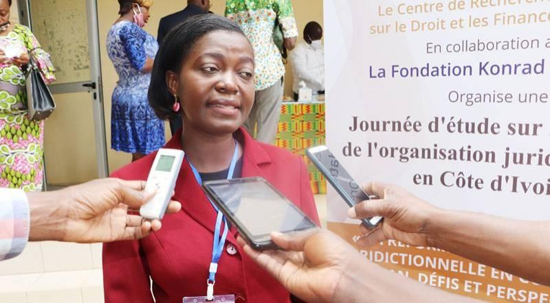Pr Pélagie Théoua N'Dri, agrégée des facultés de droit, présidente du Credfip. (DR)