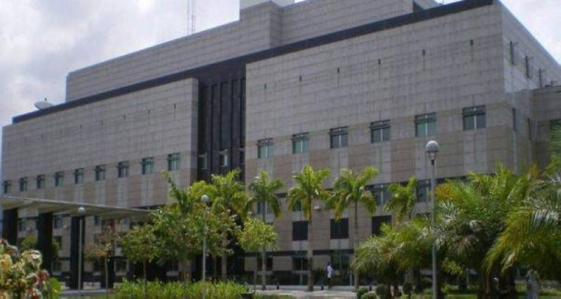 Une vue de l'ambassade des États-Unis en Côte d'Ivoire. (DR)