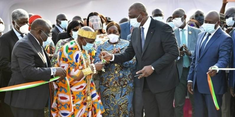 Inauguration du siège des Rois et Chefs traditionnels de Koumassi par le Premier ministre Hamed Bakayoko. (DR)