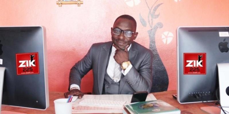 Ossohou Hugues Patrick alias Pat Sako, lead vocal du groupe Espoir 2000, lance l'application Zik225. (DR)